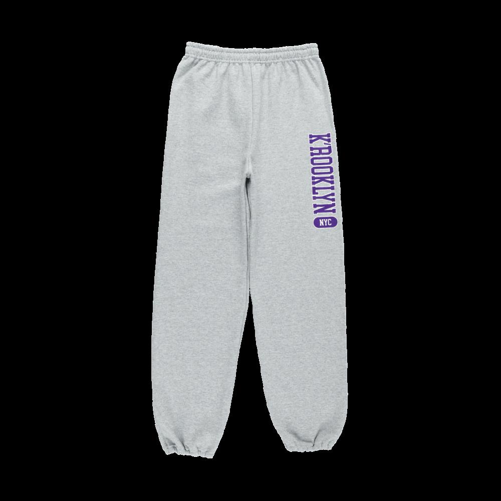 K'rooklyn College Sweat Pants -Gray-