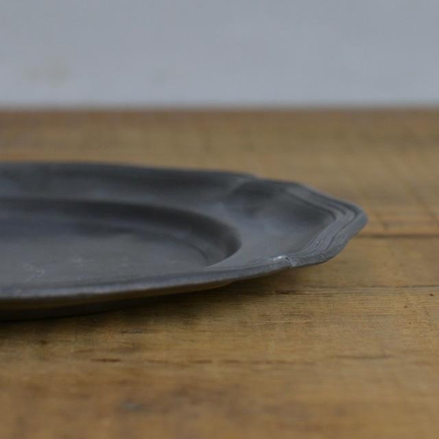 Pewter Plate / ピューター プレート〈お皿・トレイ・器・花リム・アンティーク・ヴィンテージ〉 112268
