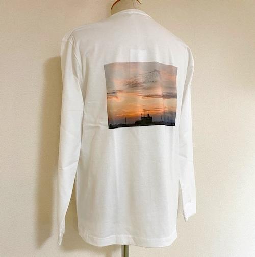 Sunset Back Print Big Size Cut & Sewn White