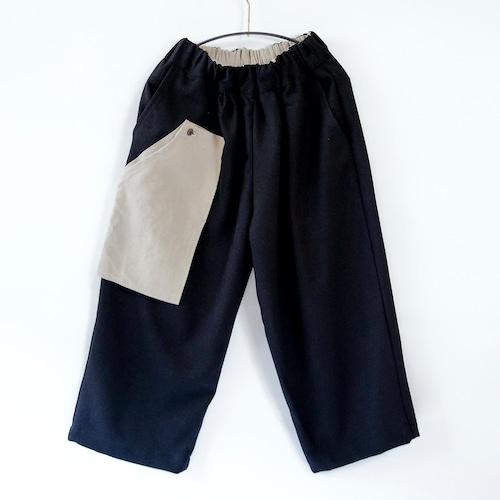 《michirico 2021AW》Three pocket pants / black / S・M