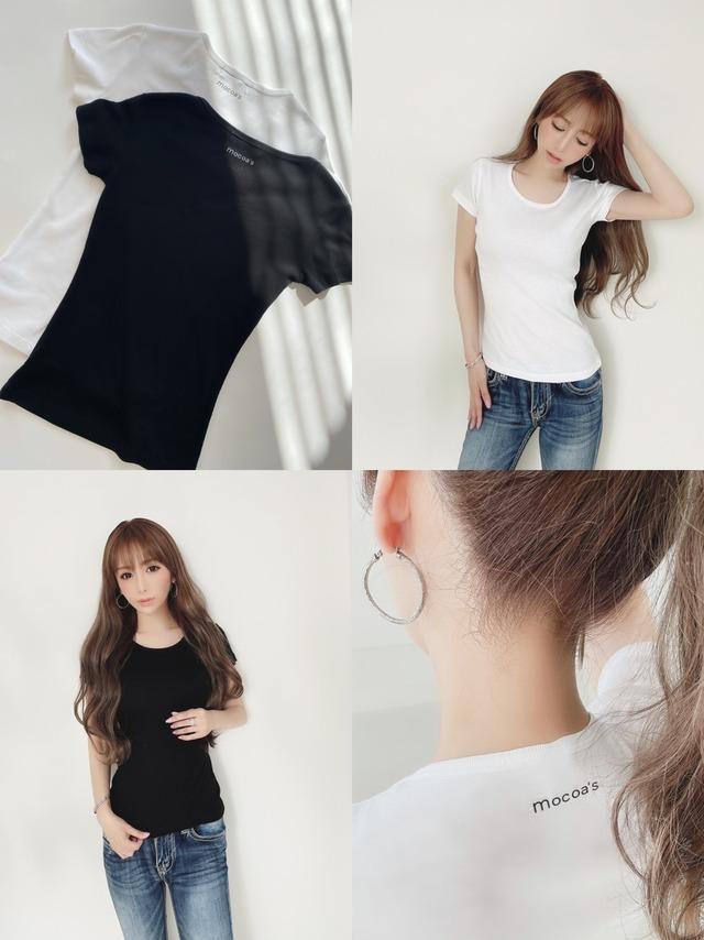 再入荷!mocoa's スタンダード美ラインTシャツ ¥3,800+tax