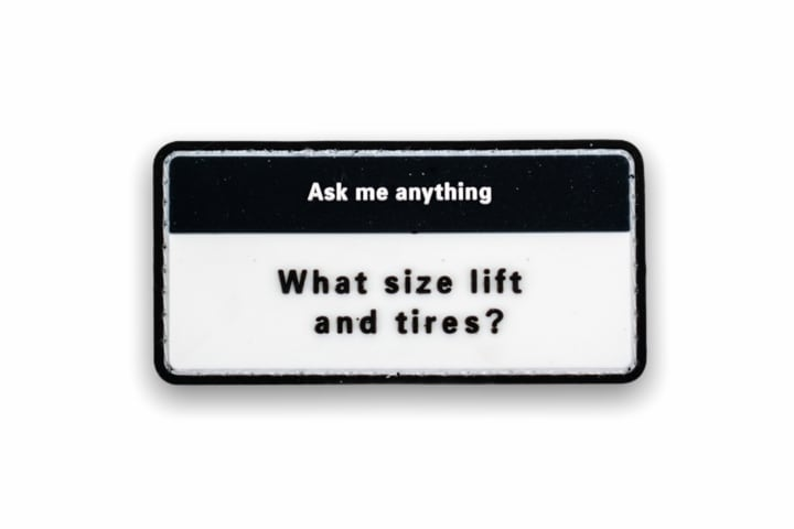 """【 TacoVinyl 】 What """"Lift and tires?"""" Patch"""
