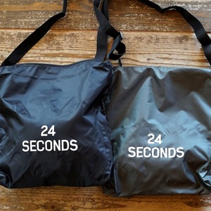 24 SECONDS /  リップストップ ショルダーバッグ BLACK or OLIVE