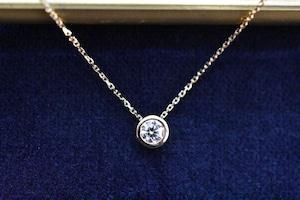 Diamond Necklace Ⅰ 0.203ct E VVS2 3EX H&C / K18YG