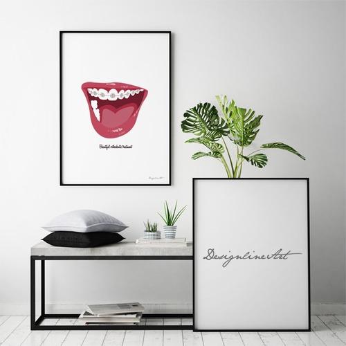 Orthodontic B3ポスター(フレーム入り)