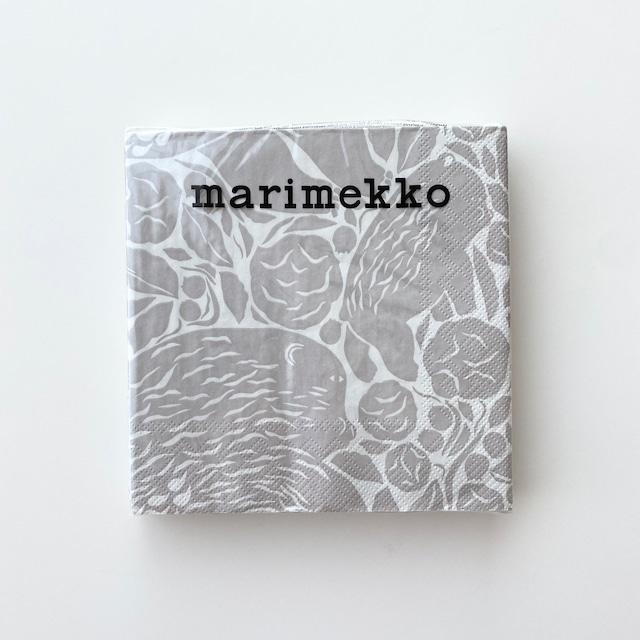 2021秋冬【marimekko】ランチサイズ ペーパーナプキン KARHUEMO クリーム 20枚入り
