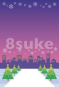イラスト素材:冬・年末の背景・バックグラウンド(ベクター・JPG)