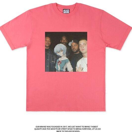 【エヴァコラボTシャツ】Eminem×綾波Tシャツ