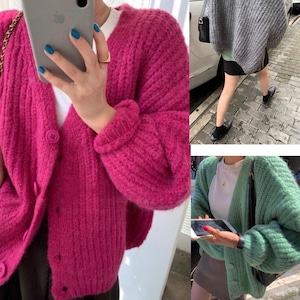 #NO.3 VOLUME SLEEVE KNIT CARDIGAN -3color-