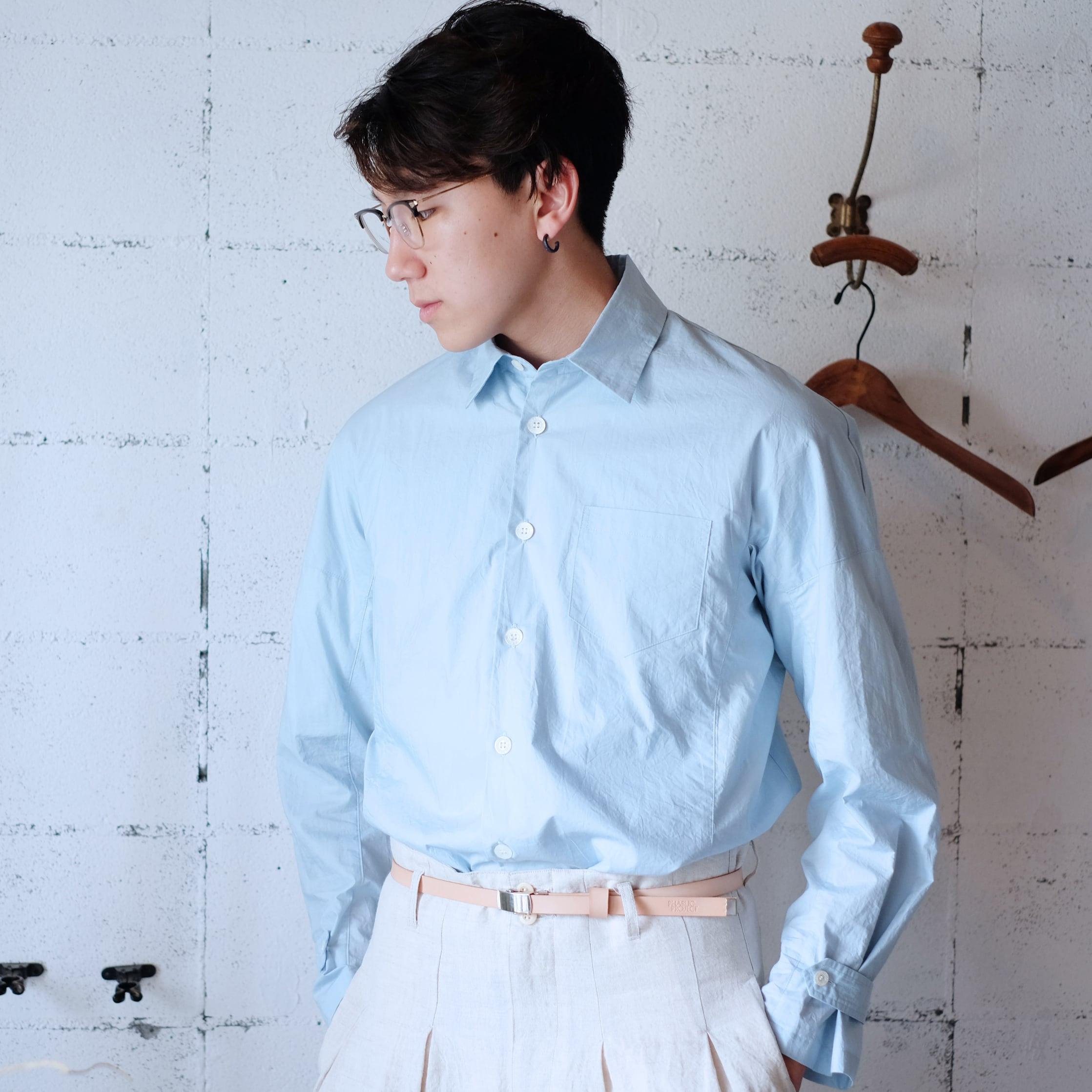 Work shirt  [ Pale blue ]