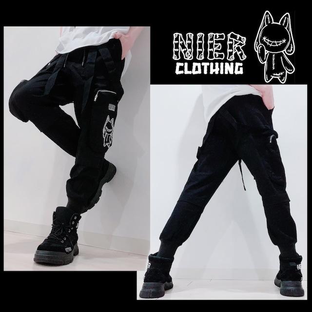 4POCKET BLACK PANTS【取り外し可能SUSPENDERS付き】