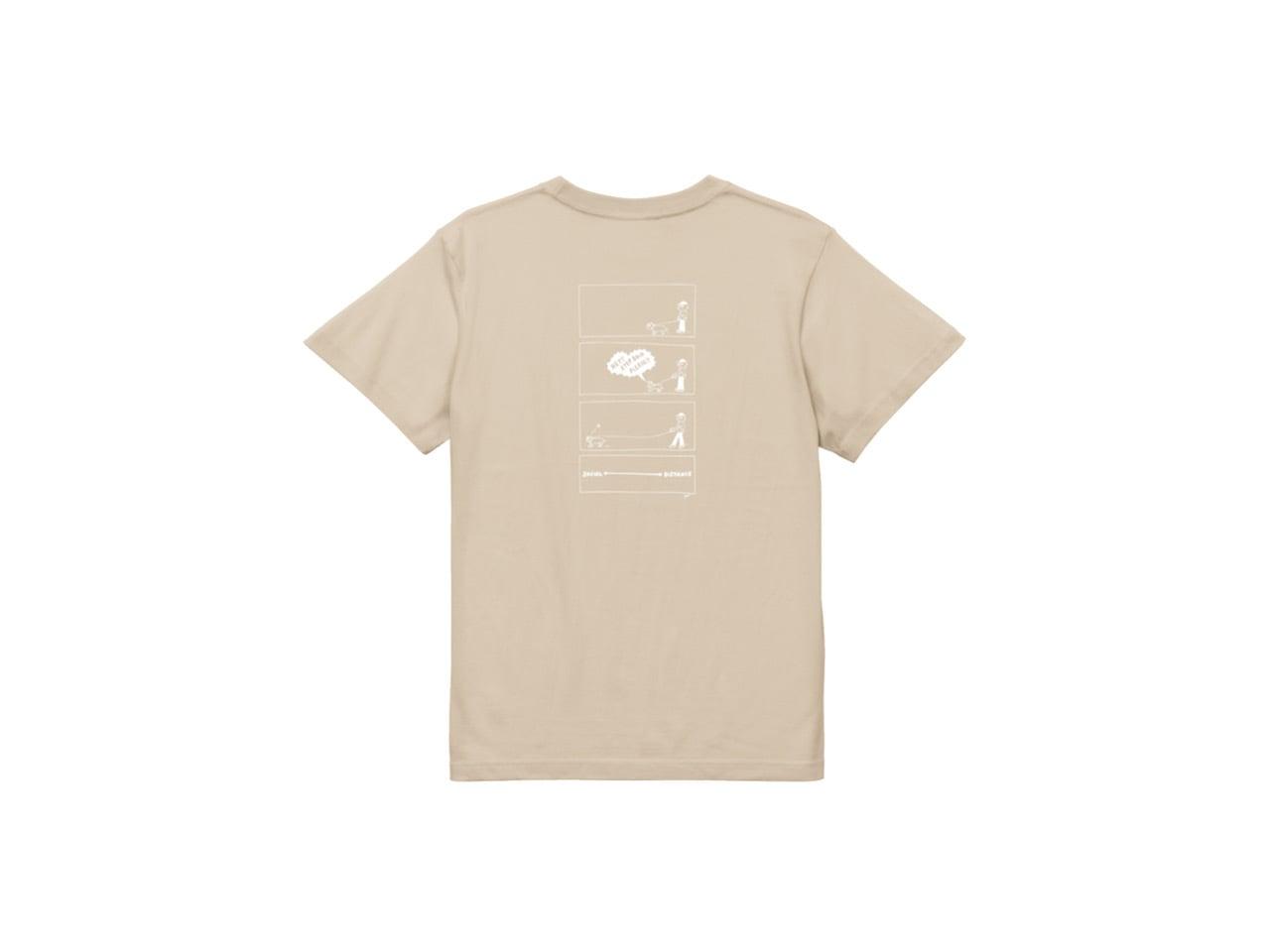SHI x coguchi dog SD T-shirts (BG/WH)