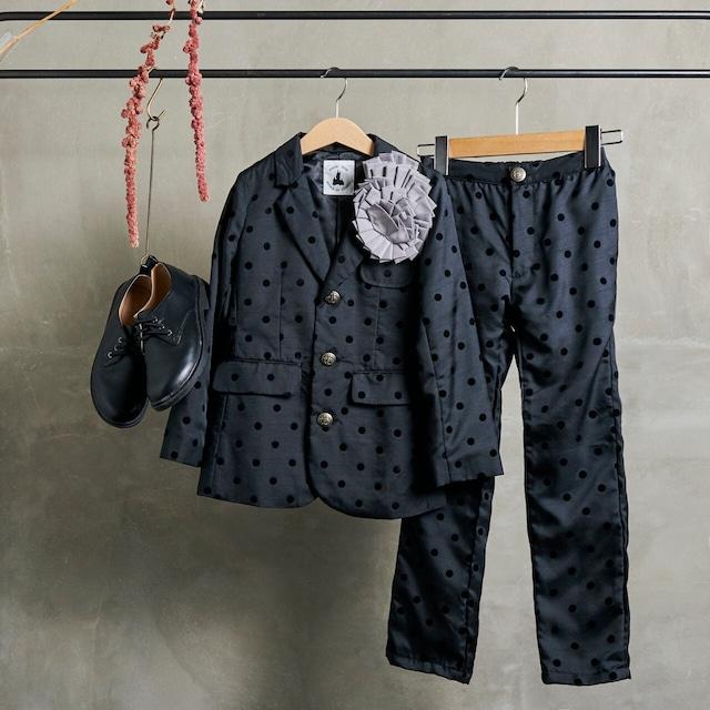 1.【レンタル】テーラージャケットスーツ(ブラック・Lサイズ 130~140)