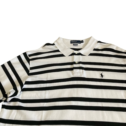 90's POLO by Ralph Lauren ビッグ ボーダー ポロシャツ