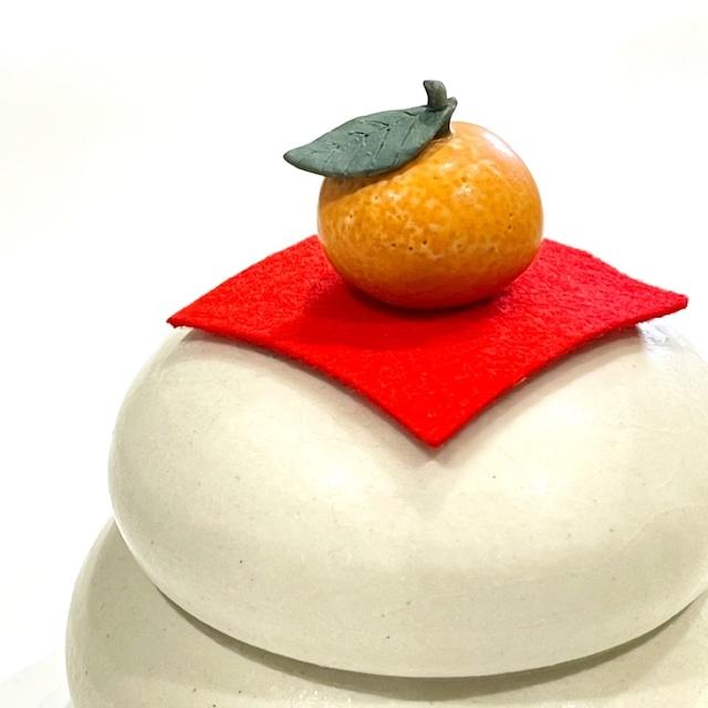 【ご予約商品】鏡餅大 (橙のみ)《八木下裕》