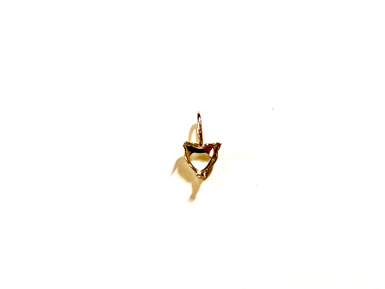 【K10YG】『タテヨコ5mm 』ハートシェイプ対応空枠 [空枠No,20]