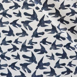 < 青い鳥 > コットン生地  50cm x 55cm