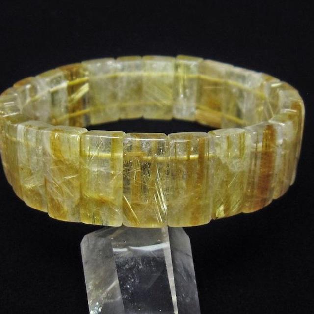 タイチンルチルクォーツ バングル Rutile quartz 送料無料 111-5511