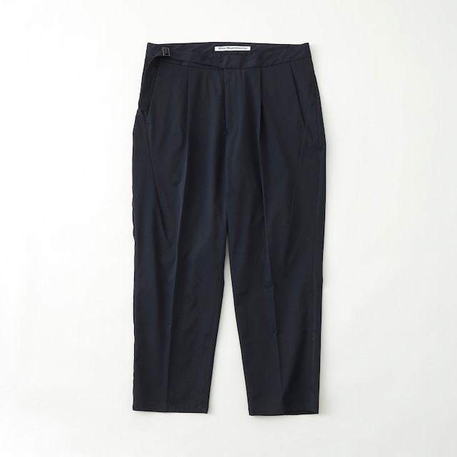 STRETCHED TWILL 1TUCK PANTS - NAVY