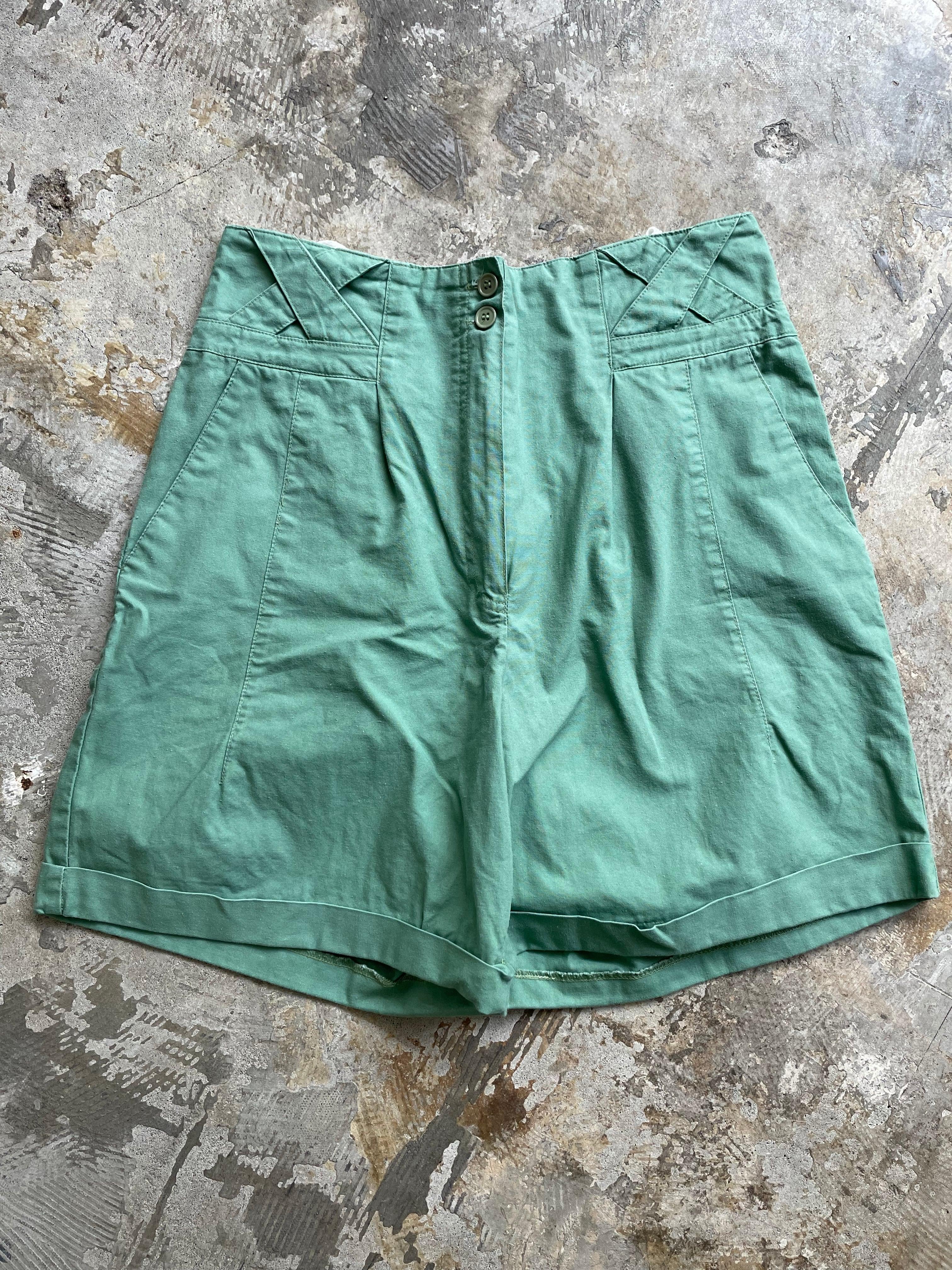 vintage half pants green