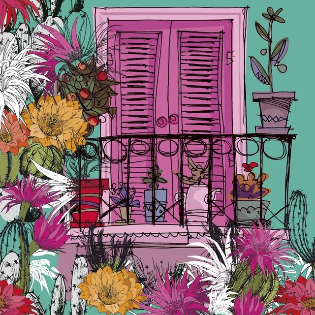【Paper+Design】バラ売り2枚 ランチサイズ ペーパーナプキン Balcony ピンク