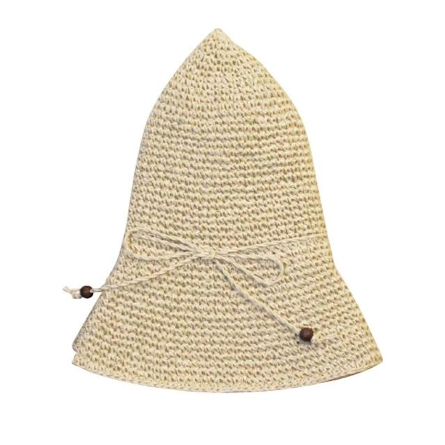 手編み帽子(56~58cm)[ささ和紙]