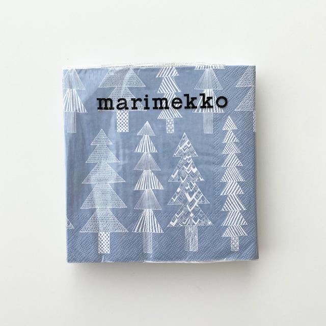 2021秋冬【marimekko】ランチサイズ ペーパーナプキン KUUSIKOSSA ライトブルー 20枚入り