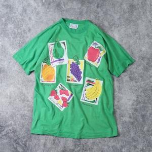 1980s   S/S   Fruits  Print   T-Shirts   XL A444