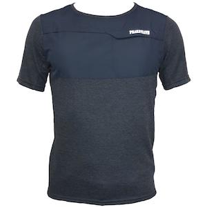 【期間限定2021年8月末まで】P818TSM20 吸水速乾 UV メンズハイブリッドTシャツ(ネイビー)