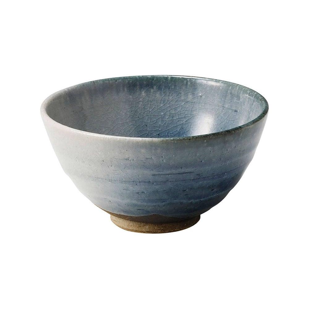 信楽焼 へちもん 飯碗 茶碗  約12cm 藍吹き MR-3-3499