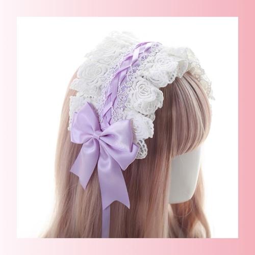 【お取り寄せ】ロリィタ ヘッドドレス 6色