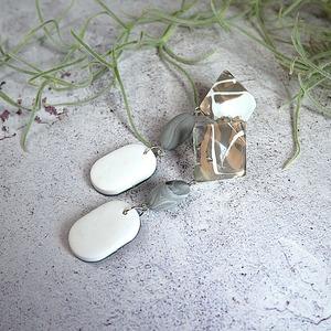 """ Earrings NO.0-1949″マーブルペイント"