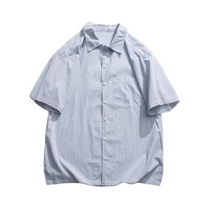 【UNISEX】ショートスリーブ グラフチェック シャツ