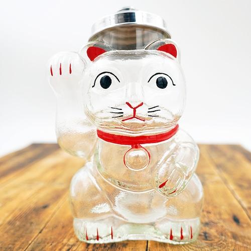 猫菓子びん(招き猫)