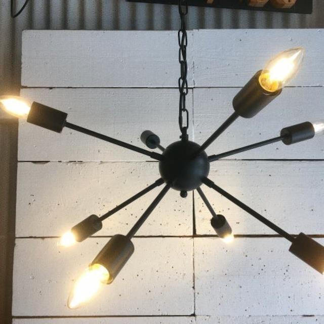TOPANGA Lighting スプートニックシャンデリア ブラック