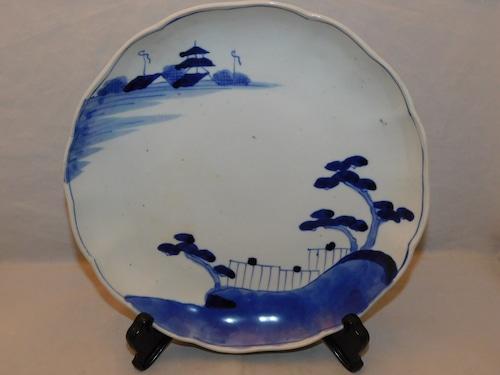 染付け八寸皿(1枚) Blue & white porcelain one plate