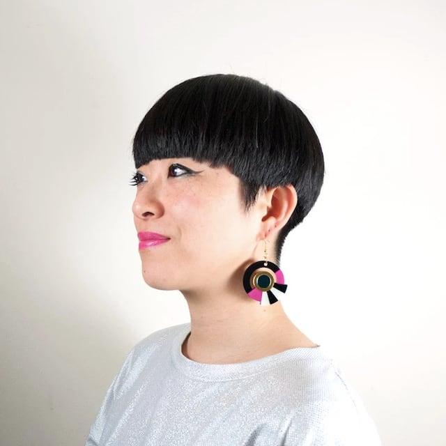 """MYSTIC FORMS""""Geometric Perspex Statement Earrings"""" FORM017 ピアス"""