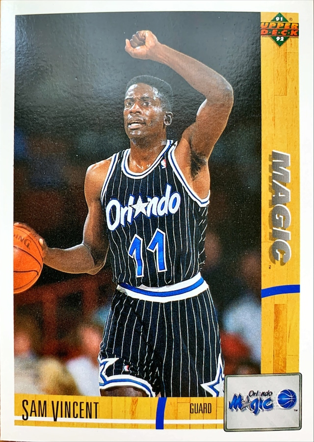 NBAカード 91-92UPPERDECK Sam Vincent #232 MAGIC