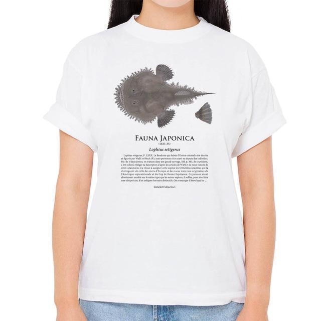 【クツアンコウ】シーボルトコレクション魚譜Tシャツ(高解像・昇華プリント)