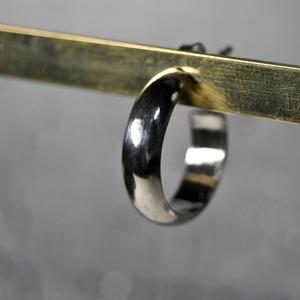 シルバープレーンフープピアス 5.0mm幅 鏡面|WKS PLANE HOOP PIERCED EARRING 5.0 sv mirror|FA-381