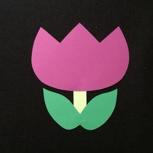 チューリップ(紫)の壁面装飾