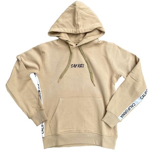 California tape Hoodie 【beige】