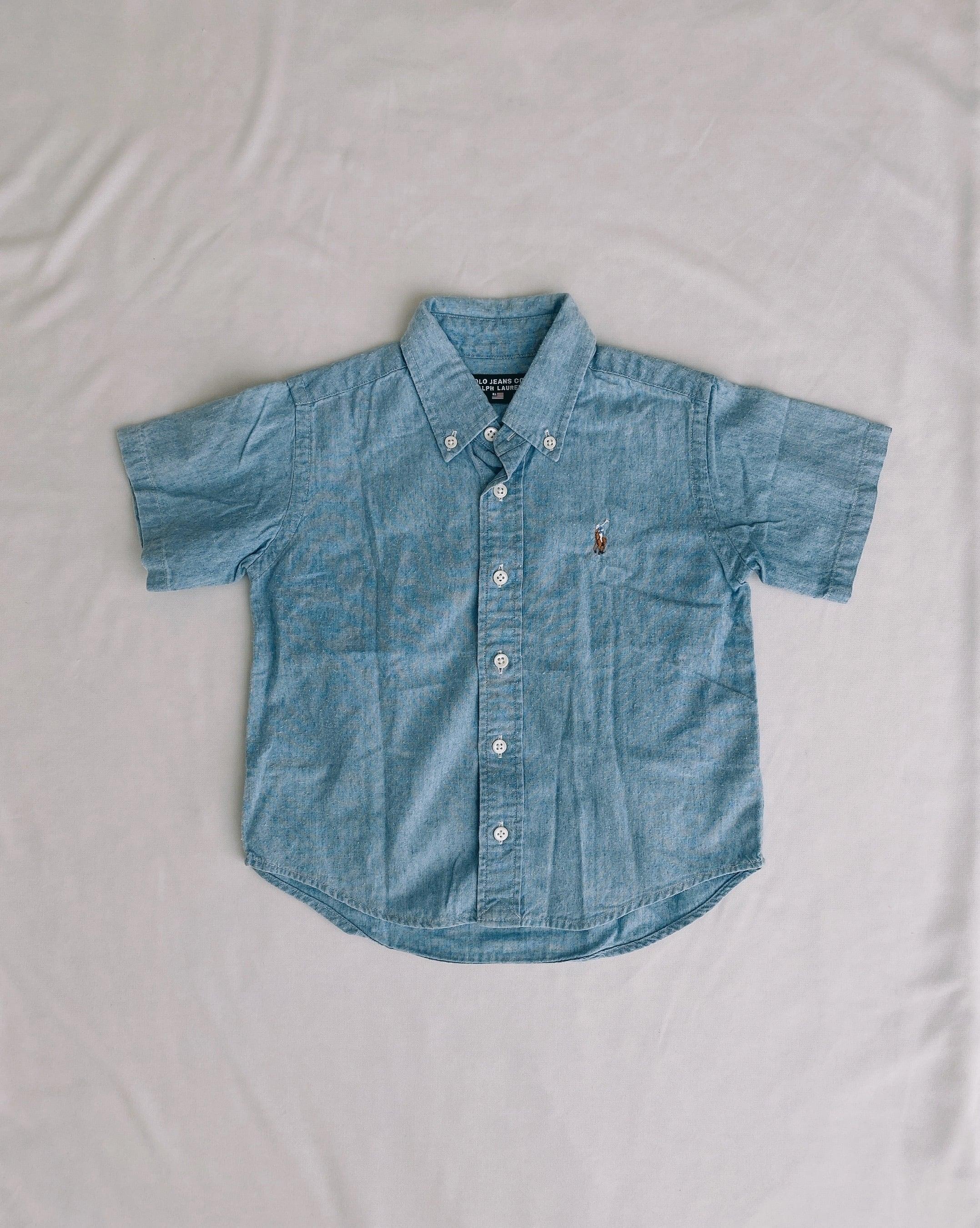 (KD156)90cm POLO JEANS chambray shirts