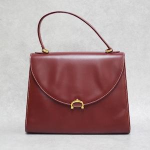 Cartier カルティエ マストライン ハンドバッグ ボルドー レザー