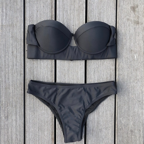 Bikini♡ブラックシンプルバンドゥビキニ