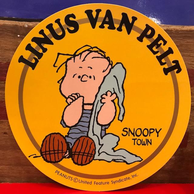 スヌーピー PEANUTS ライナス・ヴァンペルト  特大ステッカー 限定品 2000年製。