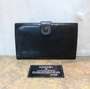 2000000006222 CHANEL COCO MARC  LEATHER WALLET MADE IN FRANCE/シャネルココマークがま口財布