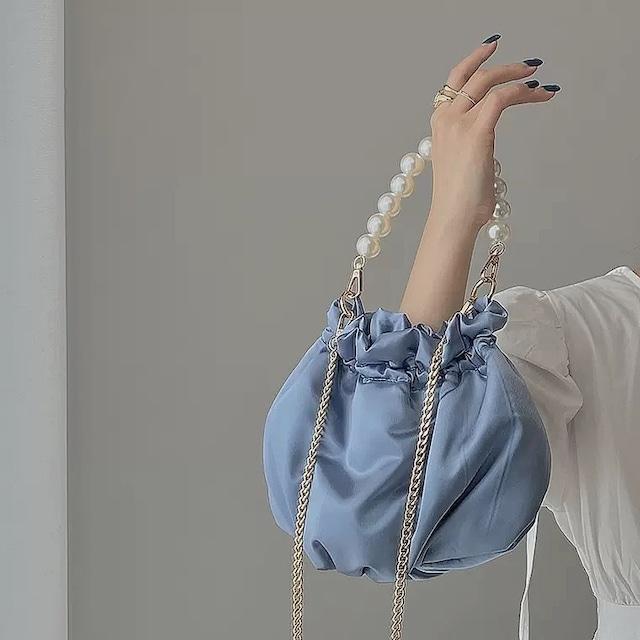 silky purse bag