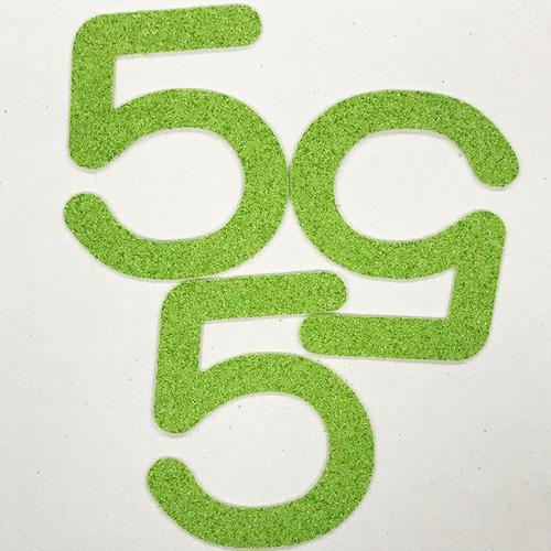切り文字 A&Cペーパー パルプロックPBR‐006(グリーン) 粘着付 数字「5」