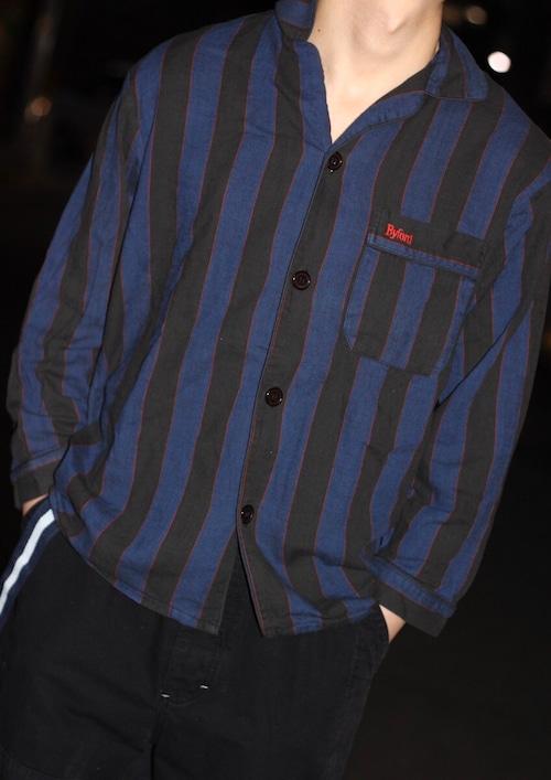 80's open collar  shirt jacket